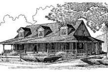 Dream House Plan - Country Exterior - Front Elevation Plan #410-127