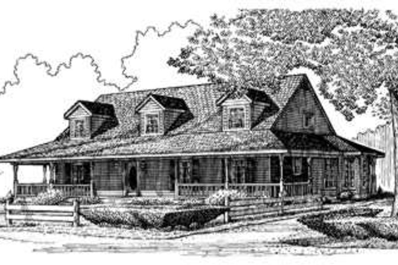 Country Exterior - Front Elevation Plan #410-127 - Houseplans.com