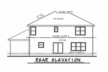 Dream House Plan - Craftsman Exterior - Rear Elevation Plan #20-2345