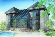 European Style House Plan - 3 Beds 2.5 Baths 3002 Sq/Ft Plan #23-368 Exterior - Rear Elevation