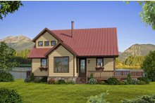 Country Exterior - Front Elevation Plan #932-9