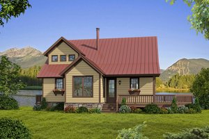 Home Plan - Country Exterior - Front Elevation Plan #932-9