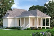 Craftsman Style House Plan - 1 Beds 1.5 Baths 1062 Sq/Ft Plan #45-588 Exterior - Front Elevation