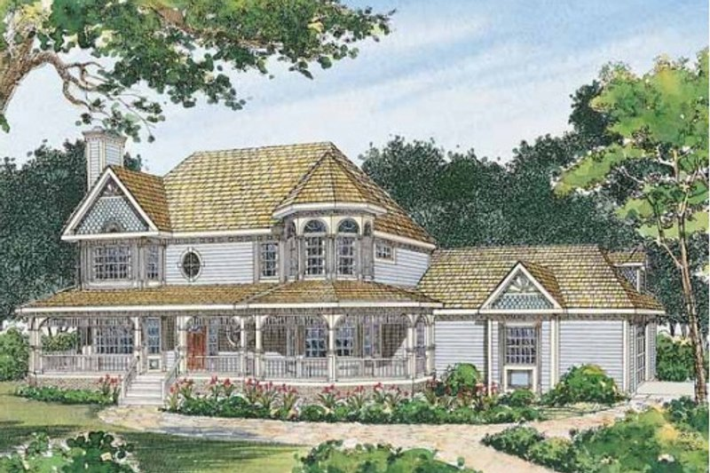 Dream House Plan - Victorian Exterior - Front Elevation Plan #72-137