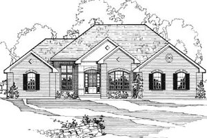 House Plan Design - European Exterior - Front Elevation Plan #31-111