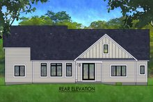 Architectural House Design - Ranch Exterior - Rear Elevation Plan #1010-242