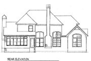 Country Style House Plan - 4 Beds 2.5 Baths 2659 Sq/Ft Plan #41-163 Exterior - Rear Elevation