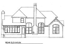 House Design - Country Exterior - Rear Elevation Plan #41-163