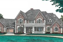 European Exterior - Front Elevation Plan #310-670