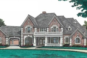 Architectural House Design - European Exterior - Front Elevation Plan #310-670