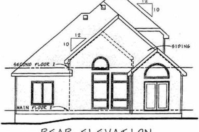 European Exterior - Rear Elevation Plan #20-1408 - Houseplans.com