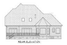 Dream House Plan - Traditional Exterior - Rear Elevation Plan #1054-72