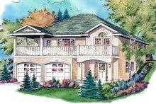 House Blueprint - European Exterior - Front Elevation Plan #18-1008