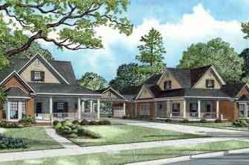 Traditional Style House Plan - 3 Beds 2 Baths 3866 Sq/Ft Plan #17-2262 Exterior - Front Elevation