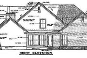 Craftsman Style House Plan - 3 Beds 2.5 Baths 2146 Sq/Ft Plan #17-2063 Exterior - Rear Elevation