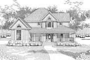 Traditional Style House Plan - 3 Beds 2 Baths 1956 Sq/Ft Plan #120-141 Exterior - Front Elevation