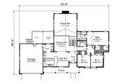 European Style House Plan - 3 Beds 3 Baths 2541 Sq/Ft Plan #57-594 Floor Plan - Main Floor Plan
