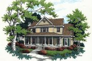 Southern Style House Plan - 3 Beds 3.5 Baths 2194 Sq/Ft Plan #45-278 Exterior - Front Elevation