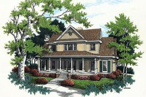 Southern Exterior - Front Elevation Plan #45-278