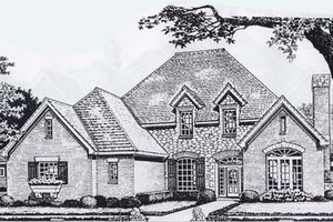 Colonial Exterior - Front Elevation Plan #310-912
