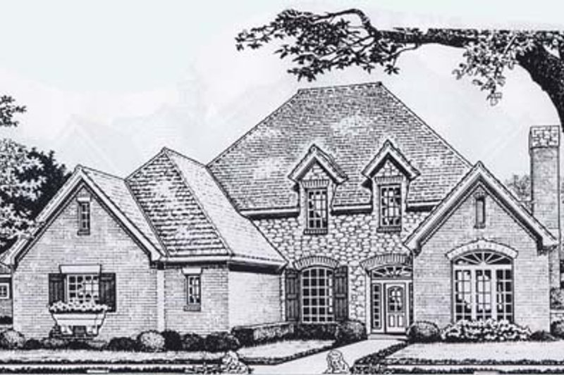 Colonial Style House Plan - 4 Beds 3.5 Baths 3041 Sq/Ft Plan #310-912 Exterior - Front Elevation