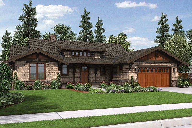 Craftsman Style House Plan - 3 Beds 3 Baths 1988 Sq/Ft Plan #48-600 Exterior - Front Elevation