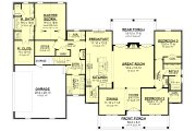 Farmhouse Style House Plan - 3 Beds 2.5 Baths 2428 Sq/Ft Plan #430-218 Floor Plan - Main Floor