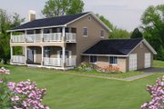 Mediterranean Style House Plan - 3 Beds 2.5 Baths 2168 Sq/Ft Plan #1-488 Exterior - Front Elevation