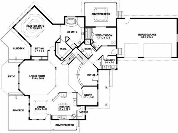 Dream House Plan - Traditional Floor Plan - Main Floor Plan #126-156