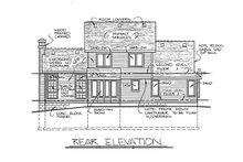 Home Plan Design - Traditional Exterior - Rear Elevation Plan #20-2015
