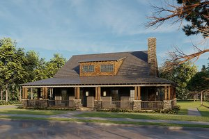 Home Plan - Farmhouse Exterior - Front Elevation Plan #923-174