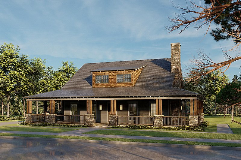 Home Plan - Farmhouse Exterior - Front Elevation Plan #923-174