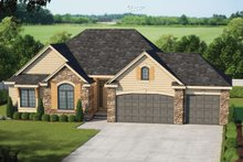 Home Plan - Traditional Exterior - Front Elevation Plan #20-2123