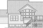 European Style House Plan - 4 Beds 2.5 Baths 2416 Sq/Ft Plan #70-602 Exterior - Rear Elevation