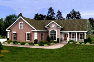Traditional Exterior - Front Elevation Plan #56-234