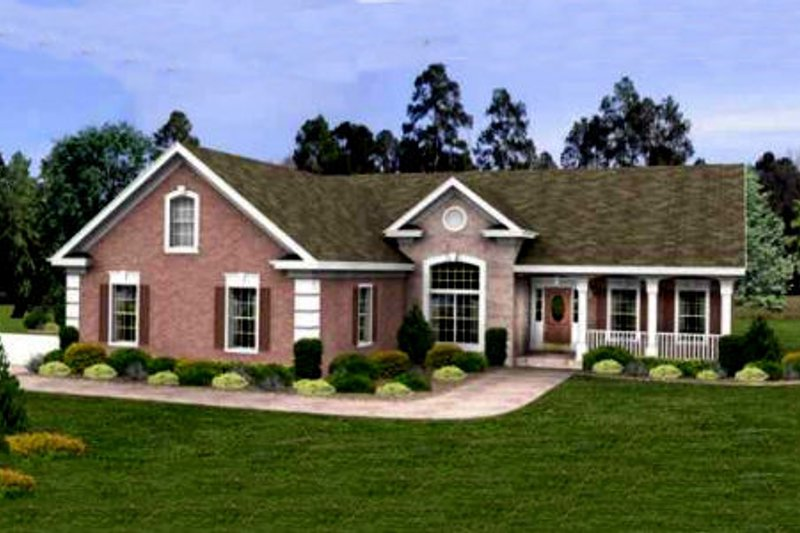 Home Plan - Traditional Exterior - Front Elevation Plan #56-234