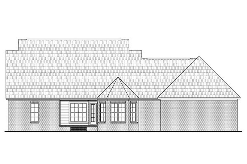 Country Exterior - Rear Elevation Plan #21-301 - Houseplans.com
