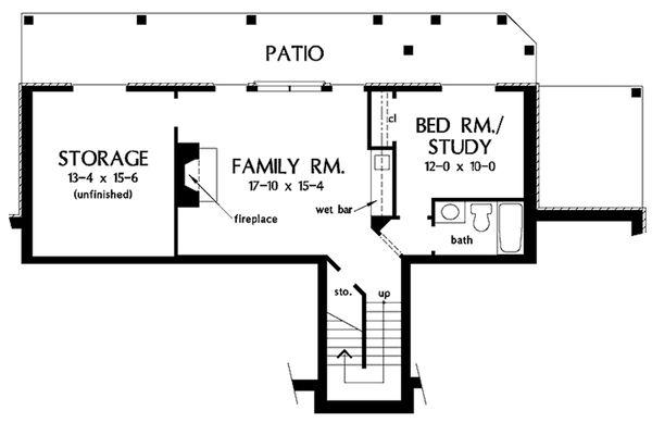 European Floor Plan - Lower Floor Plan Plan #929-41