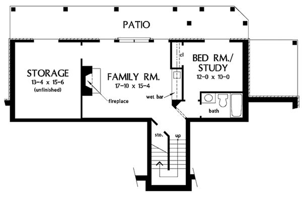 European Floor Plan - Lower Floor Plan Plan #929-41