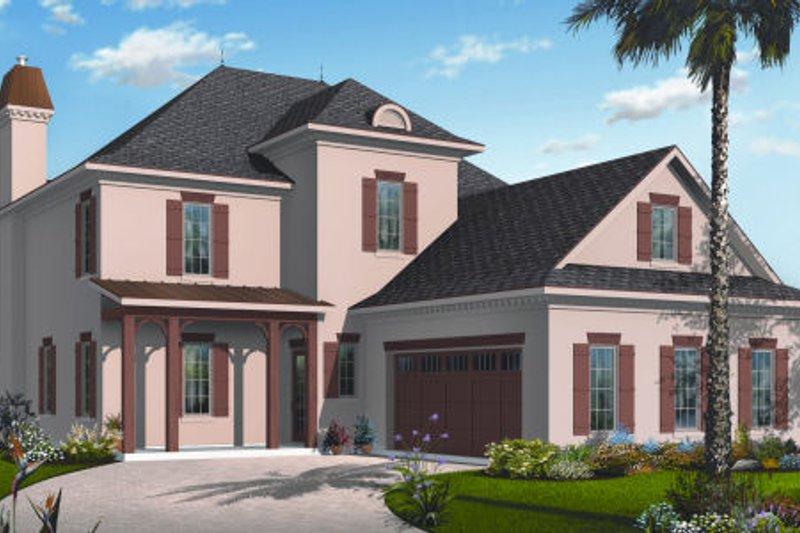 European Exterior - Front Elevation Plan #23-2253 - Houseplans.com