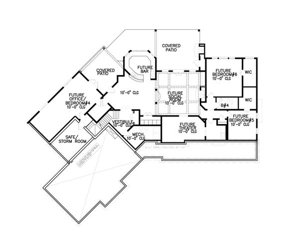 House Plan Design - Craftsman Floor Plan - Lower Floor Plan #54-398