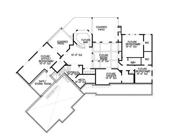 Dream House Plan - Craftsman Floor Plan - Lower Floor Plan #54-398