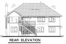 House Blueprint - European Exterior - Rear Elevation Plan #18-264