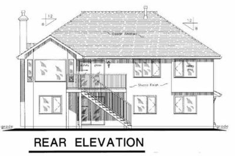 European Exterior - Rear Elevation Plan #18-264 - Houseplans.com