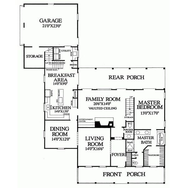Classical Floor Plan - Main Floor Plan Plan #137-124