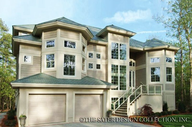 Dream House Plan - Mediterranean Exterior - Front Elevation Plan #930-32
