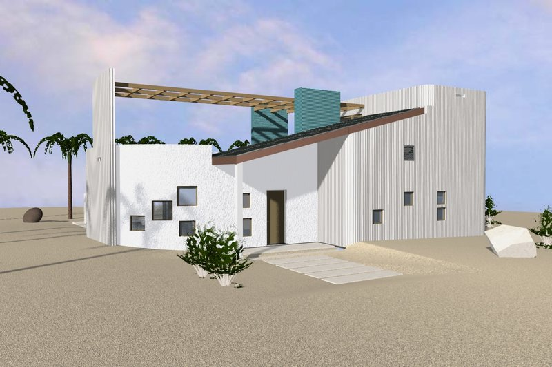 Home Plan - Beach Exterior - Front Elevation Plan #535-23