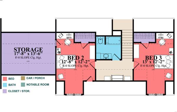 Country Floor Plan - Upper Floor Plan Plan #63-379