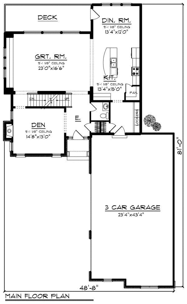 Dream House Plan - European Floor Plan - Main Floor Plan #70-1174