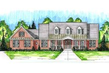 Country Exterior - Front Elevation Plan #46-490